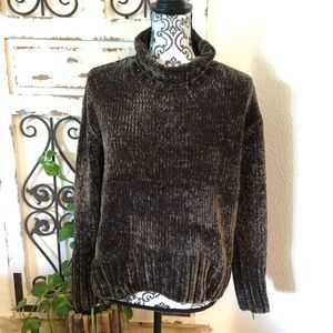 Cynthia Rowley chenille turtleneck sweater
